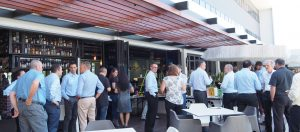 Delegates Networking Over Lunch Outdoors